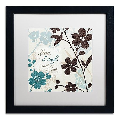 Trademark Fine Art Lisa Audit 'Botanical Touch Quote II'  16 x 16 (WAP0175-B1616MF)
