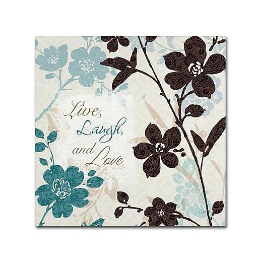 Trademark Fine Art Lisa Audit 'Botanical Touch Quote II'  35 x 35 (WAP0175-C3535GG)