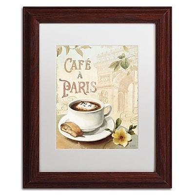 Trademark Fine Art Lisa Audit 'Cafe in Europe I' 11 x 14 (WAP0187-W1114MF)
