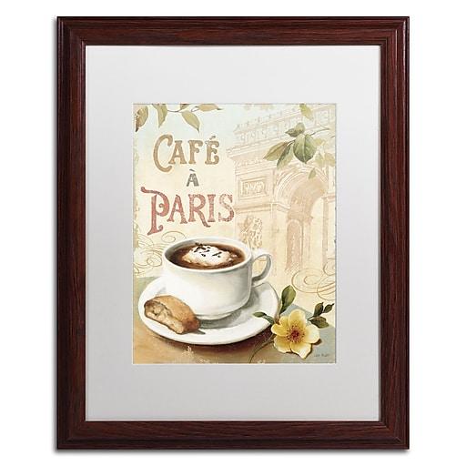 Trademark Fine Art Lisa Audit 'Cafe in Europe I'  16 x 20 (WAP0187-W1620MF)