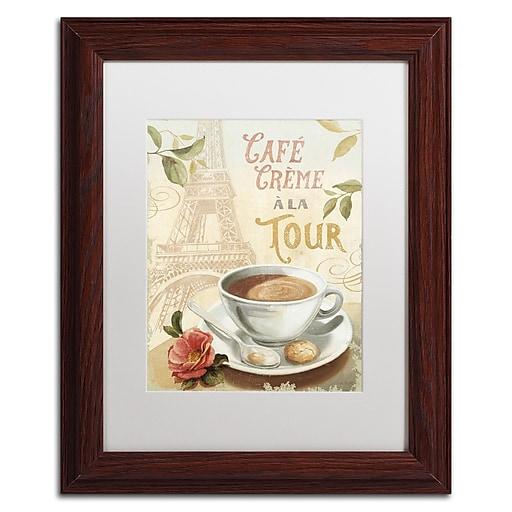 Trademark Fine Art Lisa Audit 'Cafe in Europe II'  11 x 14 (WAP0188-W1114MF)
