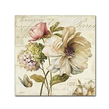 Trademark Fine Art Lisa Audit 'Marche de Fleurs II' 14 x 14 (WAP0200-C1414GG)