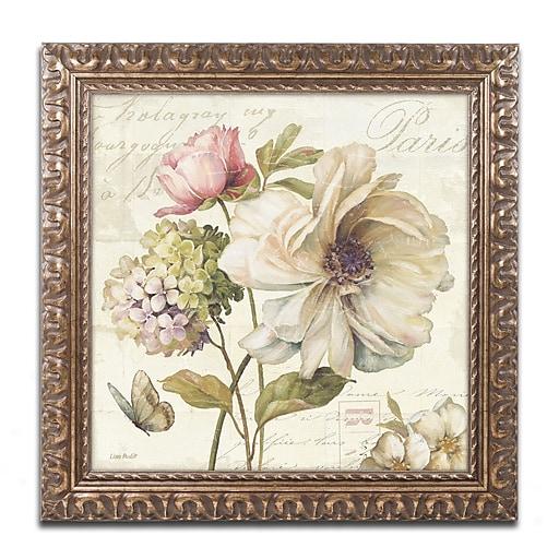 Trademark Fine Art Lisa Audit 'Marche de Fleurs II'  16 x 16 (WAP0200-G1616F)