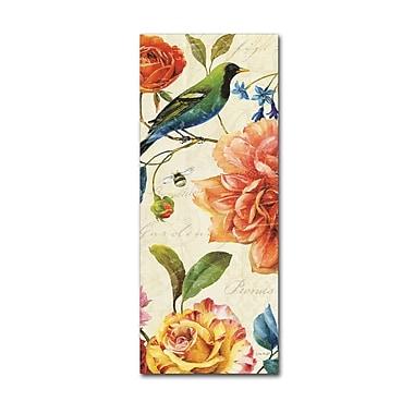 Trademark Fine Art Lisa Audit 'Rainbow Garden VI - Cream' 10 x 24 (WAP0206-C1024GG)