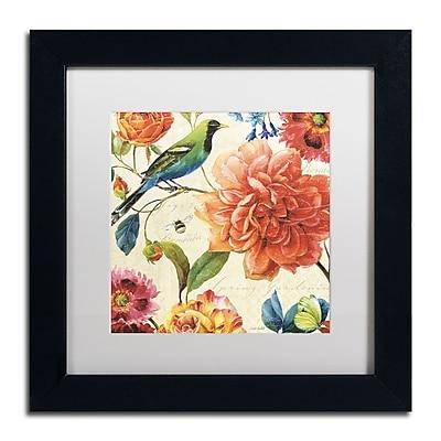 Trademark Fine Art Lisa Audit 'Rainbow Garden II - Cream' 11 x 11 (WAP0208-B1111MF)