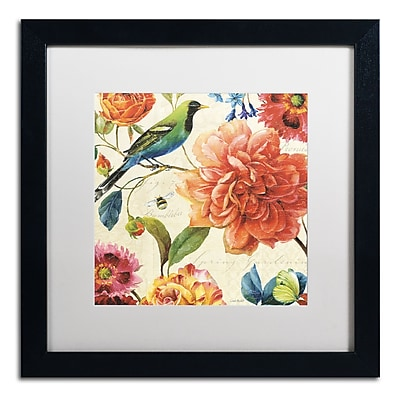 Trademark Fine Art Lisa Audit 'Rainbow Garden II - Cream' 16 x 16 (WAP0208-B1616MF)