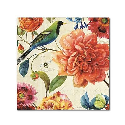 Trademark Fine Art Lisa Audit 'Rainbow Garden II - Cream' 14 x 14 (WAP0208-C1414GG)