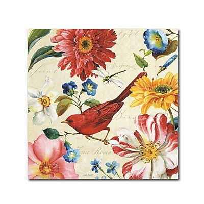 Trademark Fine Art Lisa Audit 'Rainbow Garden III - Cream' 18 x 18 (WAP0209-C1818GG)