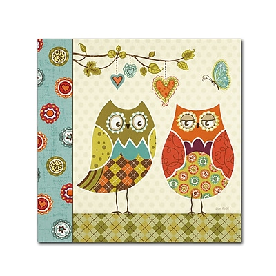 Trademark Fine Art Lisa Audit 'Owl Wonderful I' 14 x 14 (WAP0210-C1414GG)