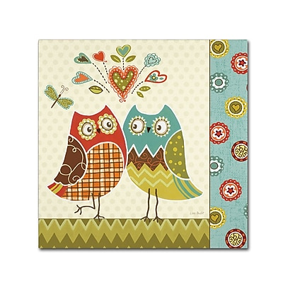 Trademark Fine Art Lisa Audit 'Owl Wonderful II' 14 x 14 (WAP0211-C1414GG)