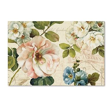 Trademark Fine Art Lisa Audit 'Les Jardin I' 22 x 32 (WAP0212-C2232GG)