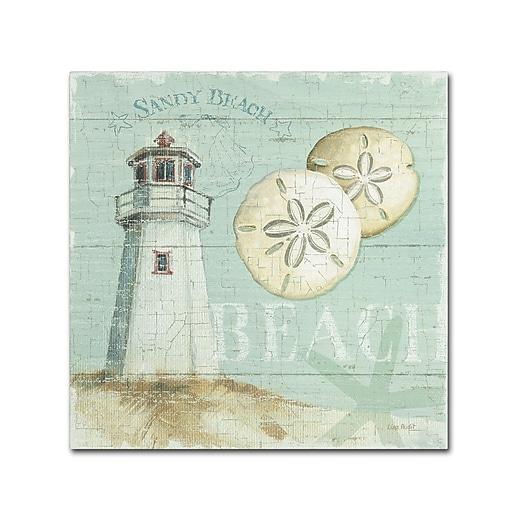 Trademark Fine Art Lisa Audit 'Beach House I'  18 x 18 (WAP0215-C1818GG)