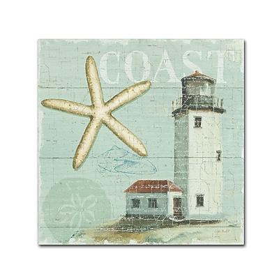 Trademark Fine Art Lisa Audit 'Beach House II' 18 x 18 (WAP0216-C1818GG)
