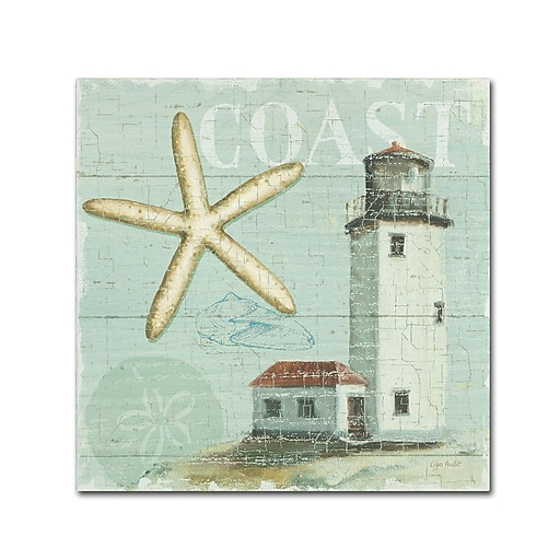 Trademark Fine Art Lisa Audit 'Beach House II'  24 x 24 (WAP0216-C2424GG)
