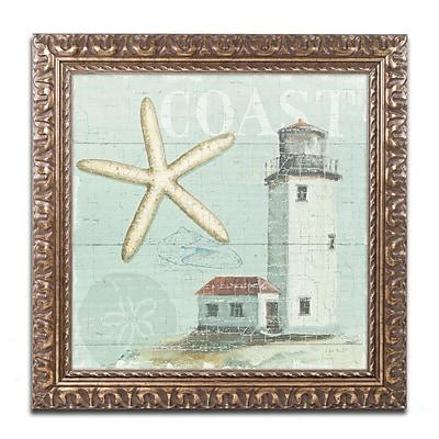 Trademark Fine Art Lisa Audit 'Beach House II' 16 x 16 (WAP0216-G1616F)