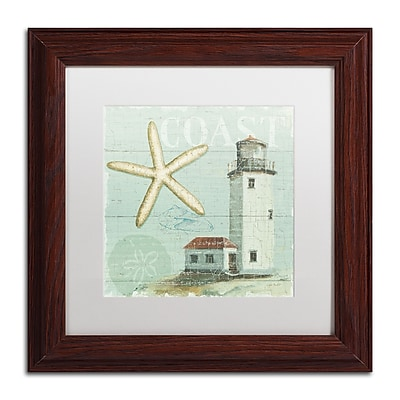 Trademark Fine Art Lisa Audit 'Beach House II' 11 x 11 (WAP0216-W1111MF)