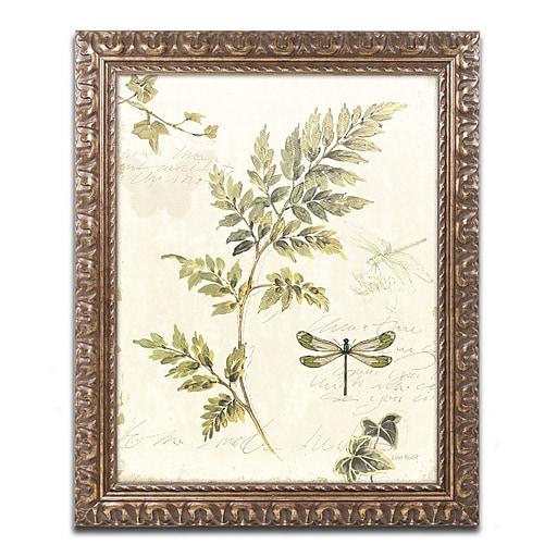 "Trademark Global Lisa Audit 'Ivies and Ferns III' Ornate Art, 16""L x 20""W, Framed (WAP0219-G1620F)"