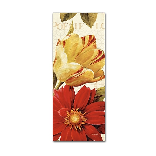 Trademark Fine Art Lisa Audit 'Poesie Florale Panel II'  8 x 19 (WAP0224-C819GG)