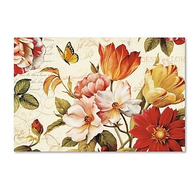 Trademark Fine Art Lisa Audit 'Poesie Florale III' 30 x 47 (WAP0227-C3047GG)