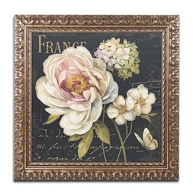 Trademark Fine Art Lisa Audit 'Marche de Fleurs on Black' 11 x 11 (WAP0228-G1111F)