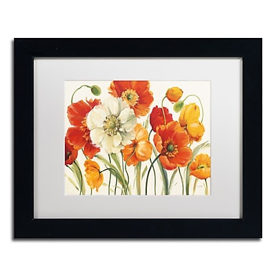 Trademark Fine Art Lisa Audit 'Poppies Melody I' 11 x 14 (WAP0229-B1114MF)
