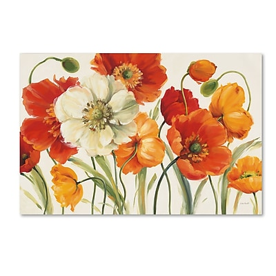 Trademark Fine Art Lisa Audit 'Poppies Melody I' 30 x 47 (WAP0229-C3047GG)