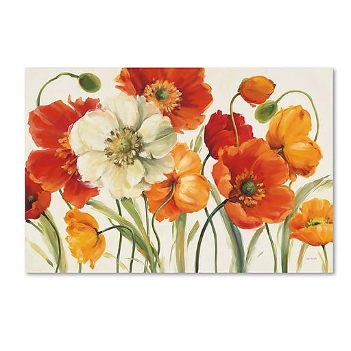 Trademark Fine Art Lisa Audit 'Poppies Melody I'  22 x 32 (WAP0229-C2232GG)