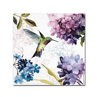 Trademark Fine Art Lisa Audit 'Spring Nectar Square II' 24 x 24 (WAP0236-C2424GG)