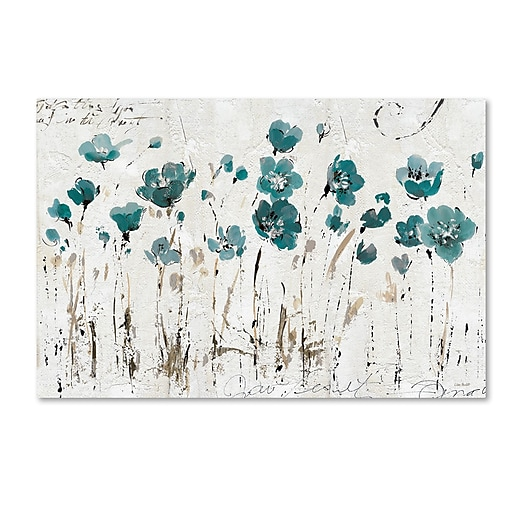 Trademark Fine Art Lisa Audit 'Abstract Balance VI Blue'  16 x 24 (WAP0246-C1624GG)