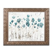 "Trademark Global Lisa Audit 'Abstract Balance VI Blue' 16"" x 20"" Ornate Framed Art (WAP0246-G1620F)"