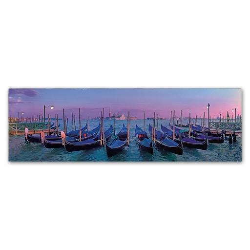 Trademark Fine Art John Xiong 'Venice Gondolas'  16 x 47 (ALI0643-C1647GG)