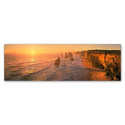 Trademark Fine Art John Xiong 'Seashore Sunrise' 10 x 32 (ALI0648-C1032GG)