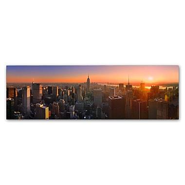 Trademark Fine Art John Xiong 'Manhattan Skyline' 10 x 32 (ALI0651-C1032GG)