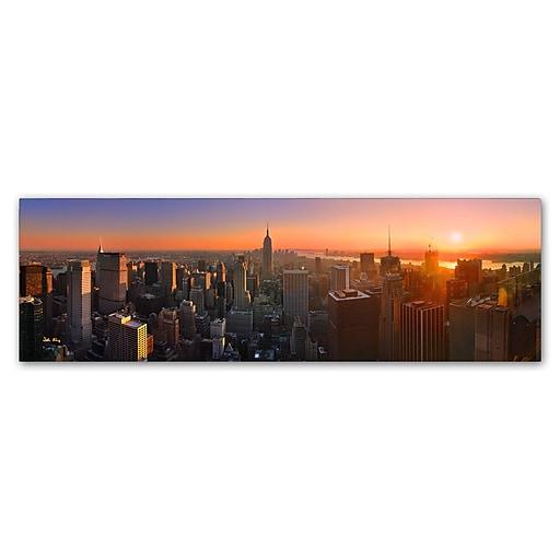 Trademark Fine Art John Xiong 'Manhattan Skyline'  8 x 24 (ALI0651-C824GG)