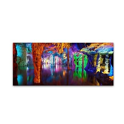 Trademark Fine Art John Xiong 'Colored Cave' 8 x 19 (ALI0653-C819GG)