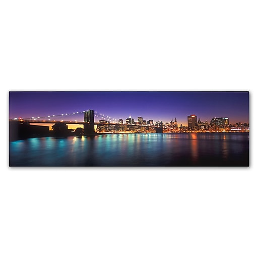 Trademark Fine Art John Xiong 'Brooklyn Bridge Lights'  6 x 19 (ALI0656-C619GG)