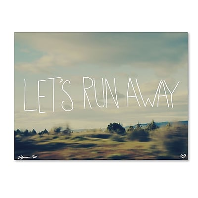 Trademark Fine Art Leah Flores 'Let's Run Away'  18 x 24 (ALI0671-C1824GG)