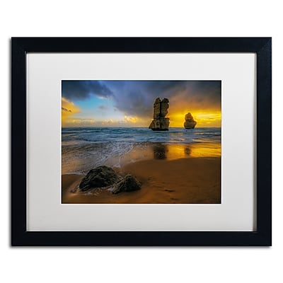 Trademark Fine Art Lincoln Harrison 'Beach at Sunset' 16 x 20 (ALI0723-B1620MF)
