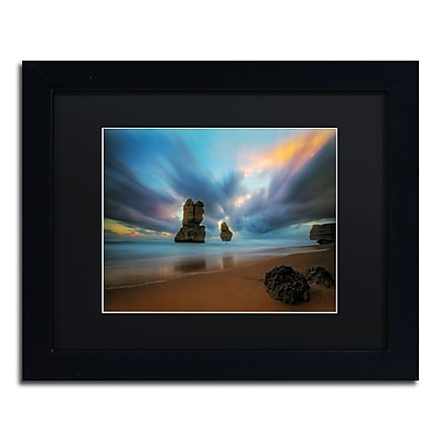 Trademark Fine Art Lincoln Harrison 'Beach at Sunset 2' 11 x 14 (886511728189)