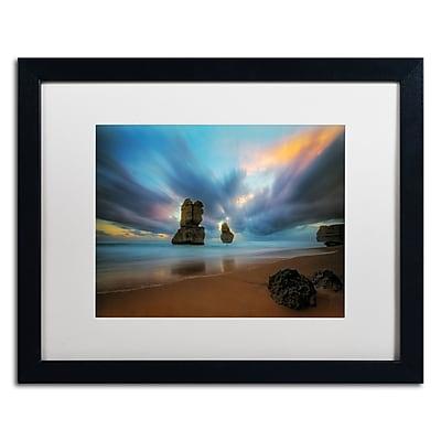 Trademark Fine Art Lincoln Harrison 'Beach at Sunset 2' 16 x 20 (ALI0724-B1620MF)
