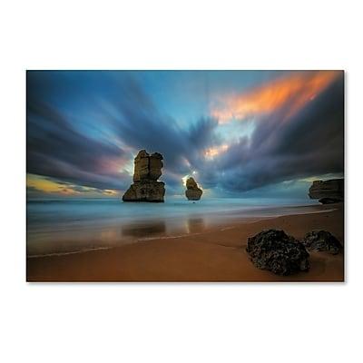 Trademark Fine Art Lincoln Harrison 'Beach at Sunset 2' 12 x 19 (ALI0724-C1219GG)