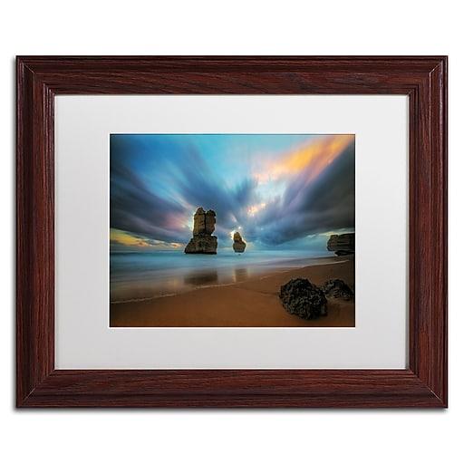 Trademark Fine Art Lincoln Harrison 'Beach at Sunset 2'  11 x 14 (ALI0724-W1114MF)
