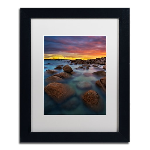 Trademark Fine Art Lincoln Harrison 'Beach at Sunset 4'  11 x 14 (ALI0726-B1114MF)