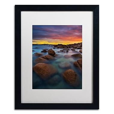 Trademark Fine Art Lincoln Harrison 'Beach at Sunset 4' 16 x 20 (ALI0726-B1620MF)