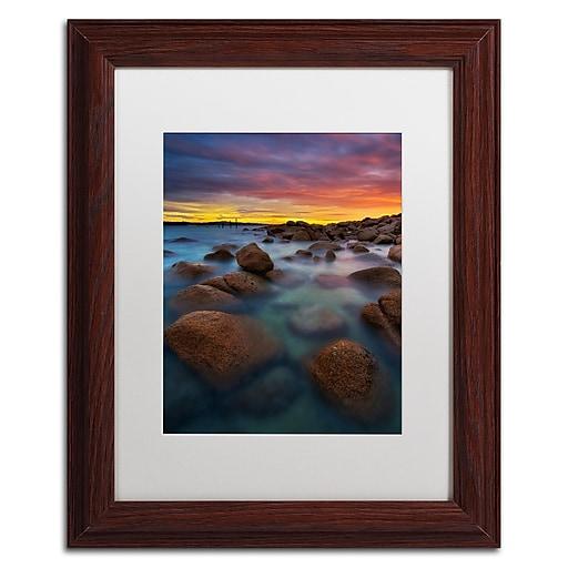Trademark Fine Art Lincoln Harrison 'Beach at Sunset 4'  11 x 14 (ALI0726-W1114MF)