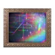 "Trademark Global Beata Czyzowska Young 'Rainbow Logistics IV' Ornate Framed Art, 16"" x 20"" (BC0214-G1620F)"