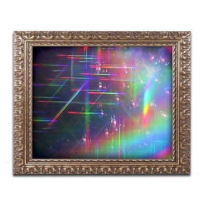 Trademark Global Beata Czyzowska Young 'Rainbow Logistics IV' Ornate Framed Art, 16