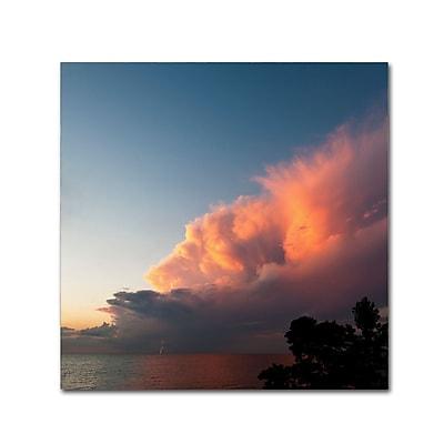 Trademark Fine Art Kurt Shaffer 'Distant Lightning at Sunset' 24 x 24 (KS0148-C2424GG)
