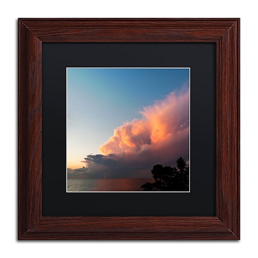 Trademark Fine Art Kurt Shaffer 'Distant Lightning at Sunset'  11 x 11 (KS0148-W1111BMF)