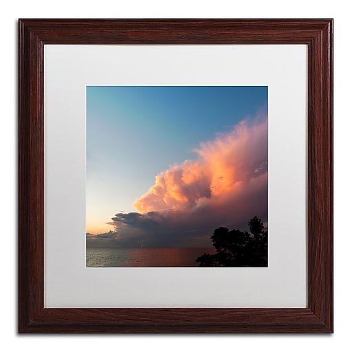 Trademark Fine Art Kurt Shaffer 'Distant Lightning at Sunset'  16 x 16 (KS0148-W1616MF)